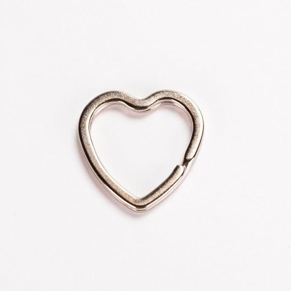 Nøkkelring - Hjerte, sølv