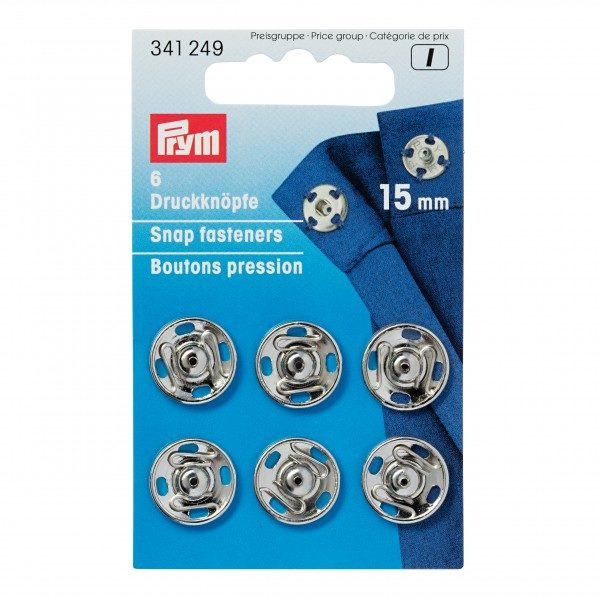 Trykknapp 7, 9, 11, 13 & 15mm - Sølv