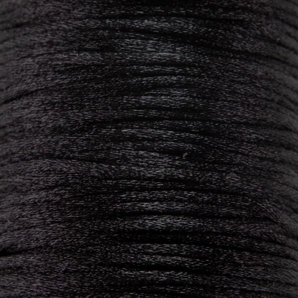 Tråd - Satin 2mm - 1meter, sort