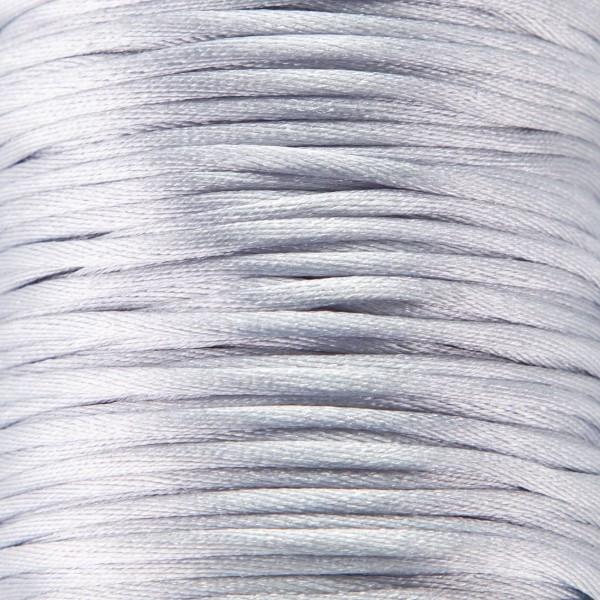 Tråd - Satin 2mm - 1meter, lys grå