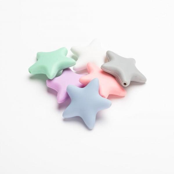 Silikon - Stjerne 45mm