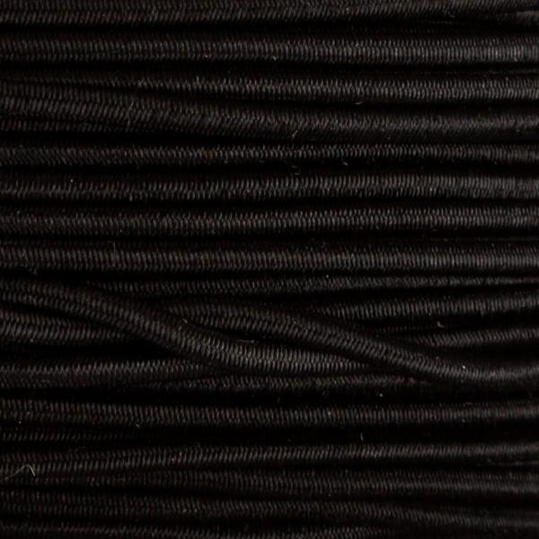 Tråd – Elastisk 3mm – 1meter, sort