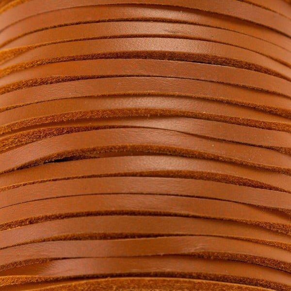 Skinn snor 3,5mm – 1meter, natur