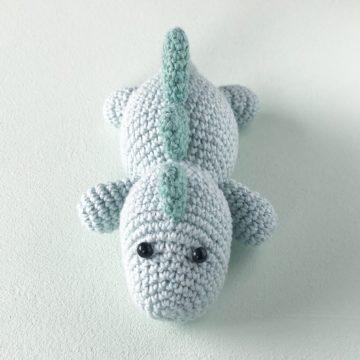 Dinosaurrangle – hekleoppskrift