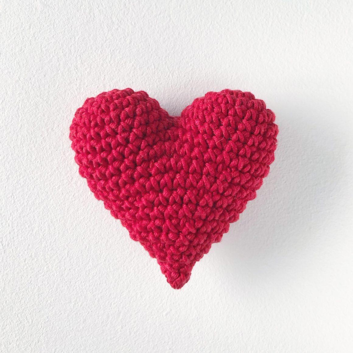 Hjerte – hekleoppskrift