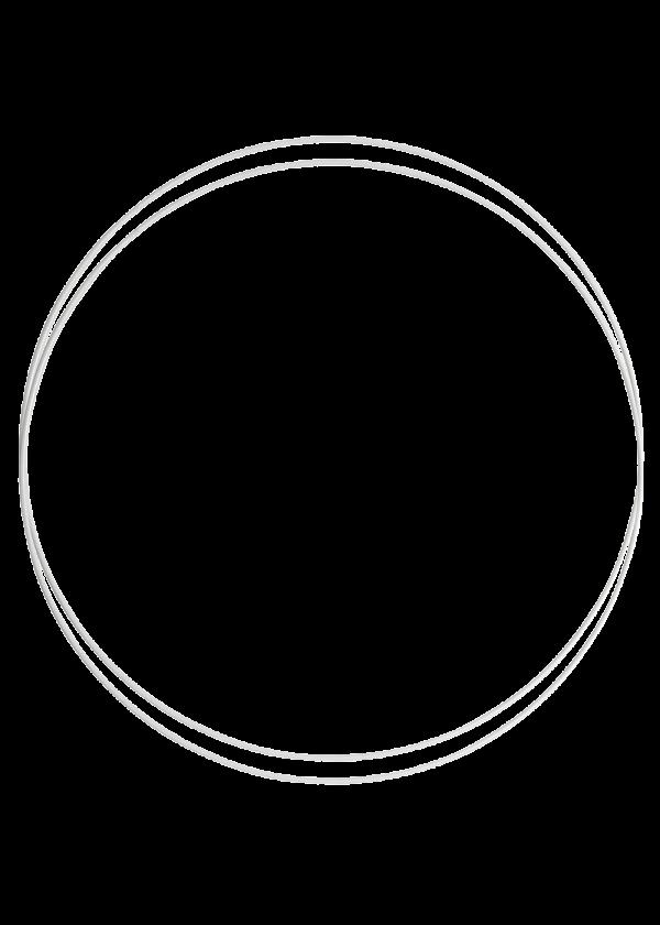 Metallring - Hvit 30cm, 2stk
