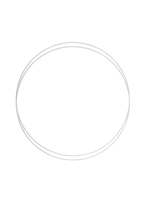 Metallring - Hvit 25cm, 2stk