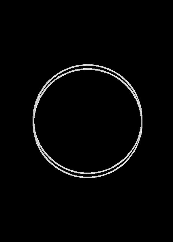 Metallring - Hvit 20cm, 2stk