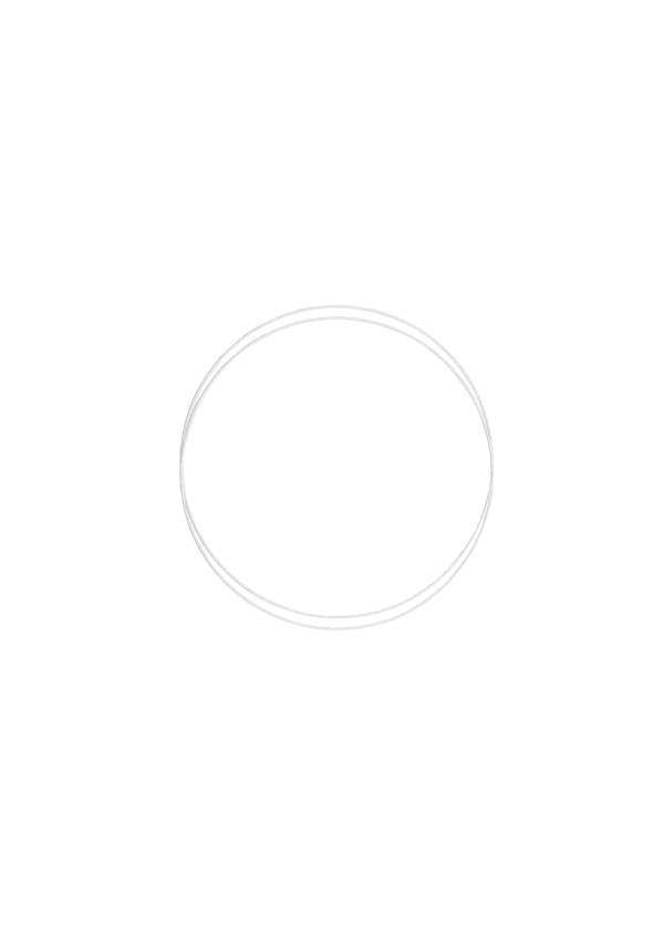Metallring - Hvit 15cm, 2stk