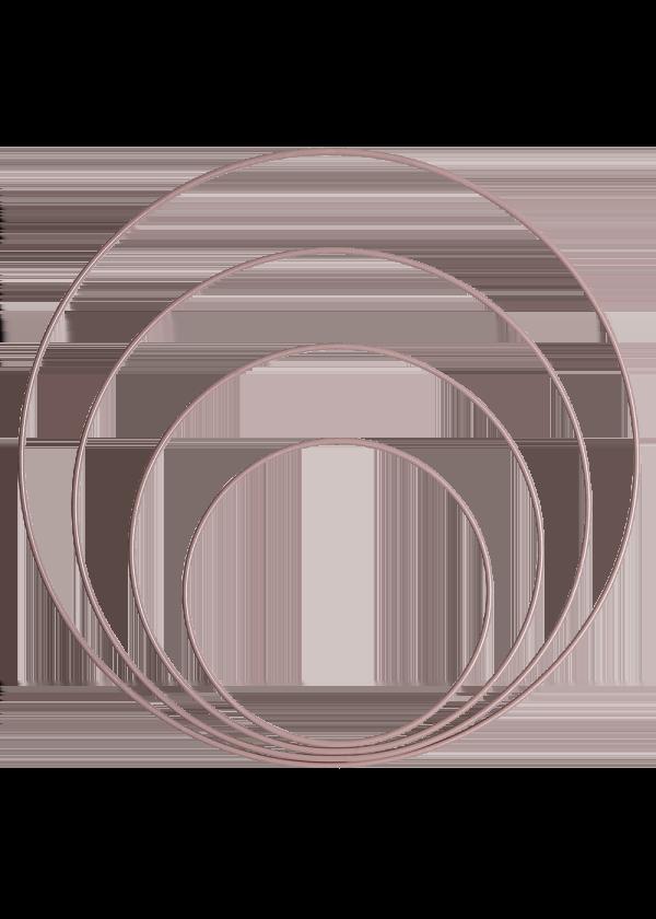 Metallring - Rosa 15,20,25&30cm