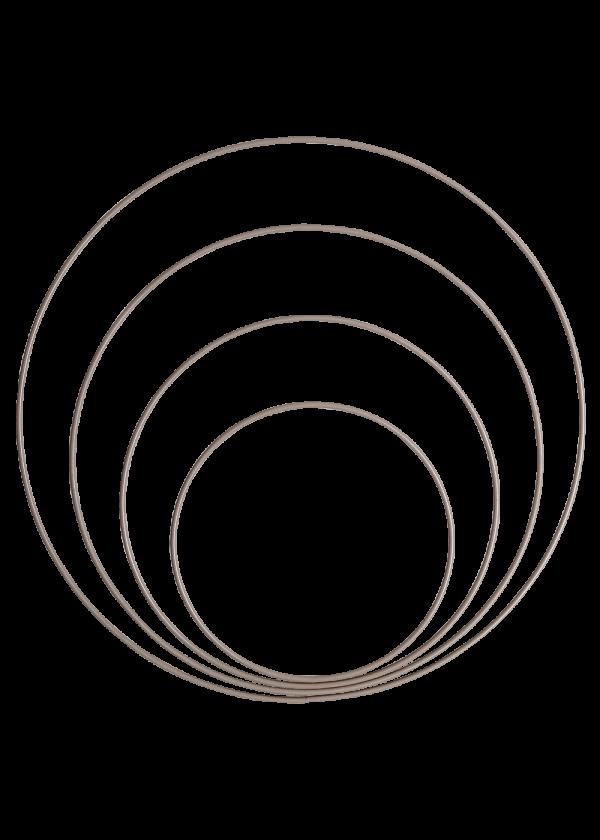 Metallring - Beige 15,20,25&30cm