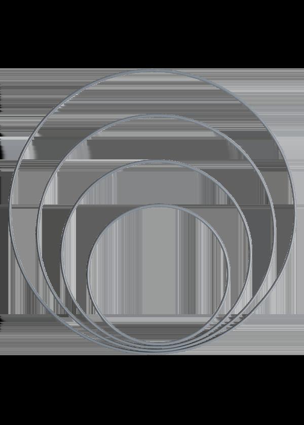 Metallring - Grå/blå 15,20,25&30cm