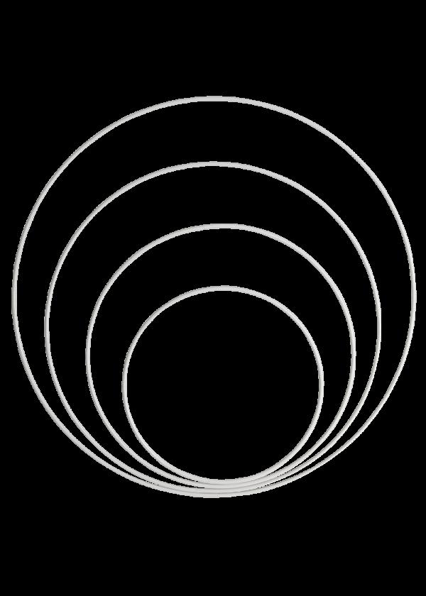 Metallring - Hvit 15,20,25&30cm