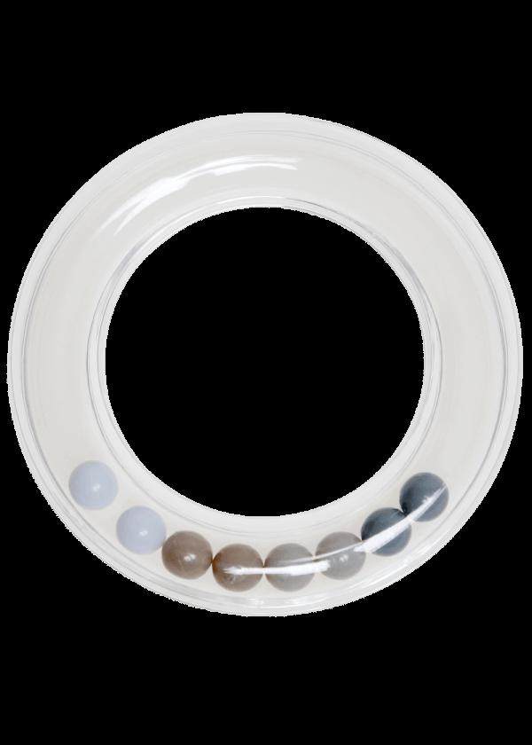 Rangle ring - Grå, 80mm