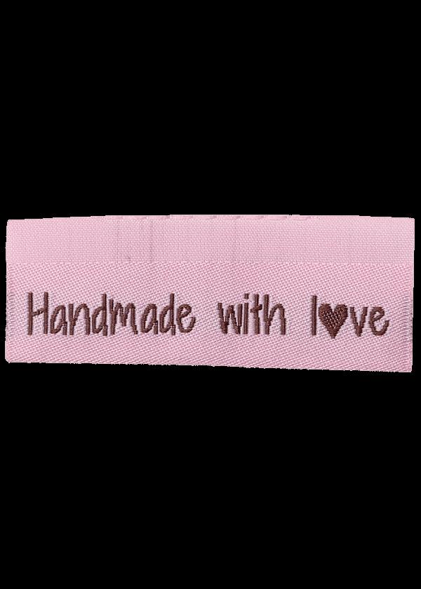 Handmade whit love - 10 stk