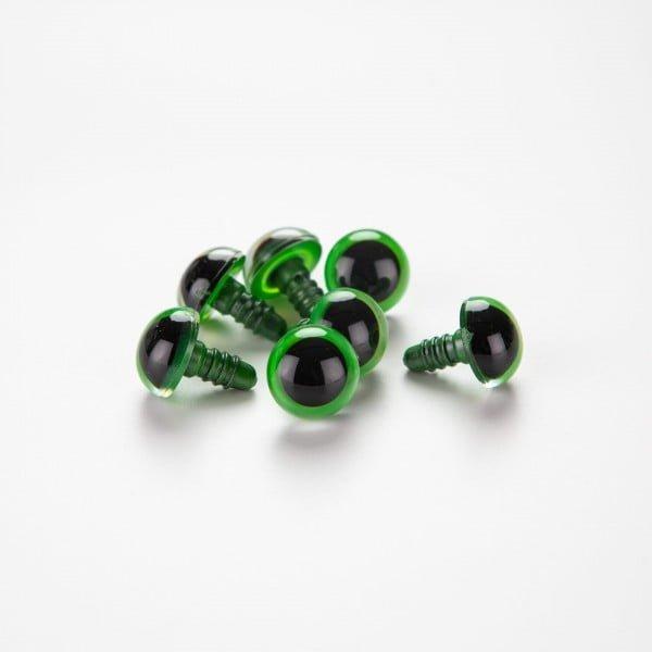 Sikkerhetsøyne – 6-16mm, grønn