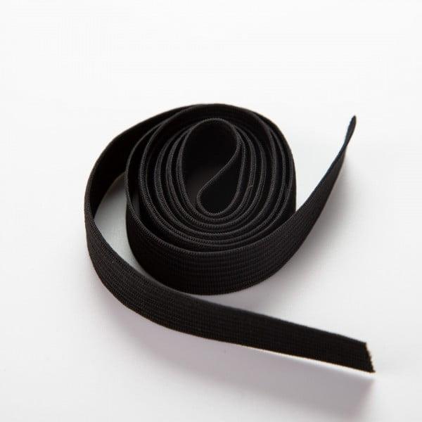 Elastisk bånd - 10mm, Sort 1meter