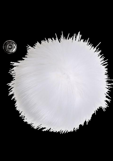 Pompon - 11cm hvit