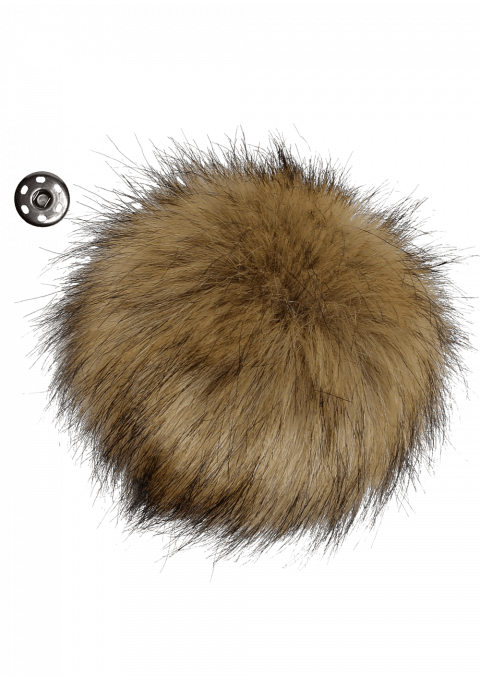 Pompon - 11cm lys brun