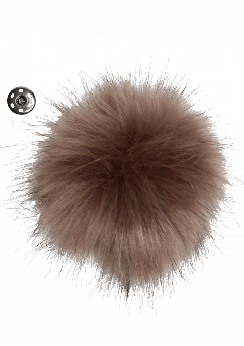 Pompon - 11cm brun