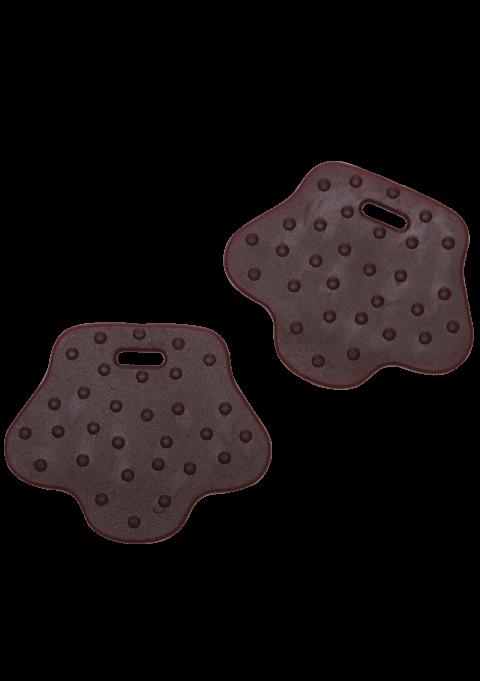 Formet bitering dyrefot - Mørk brun