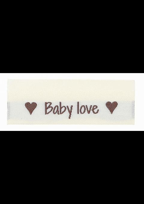 Baby love, med hjerter på baksiden - 10 stk