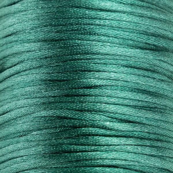 Tråd - Satin 2mm - 1meter, grønn