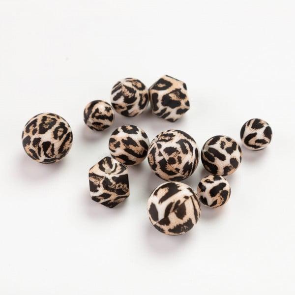 Silikon print – Leopard, brun