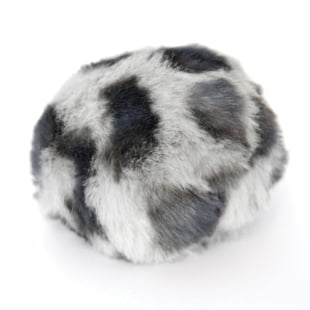 Pompon - 8cm dyreprint mørkegrå/sort