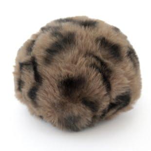 Pompon - 8cm dyreprint lysbrun/sort