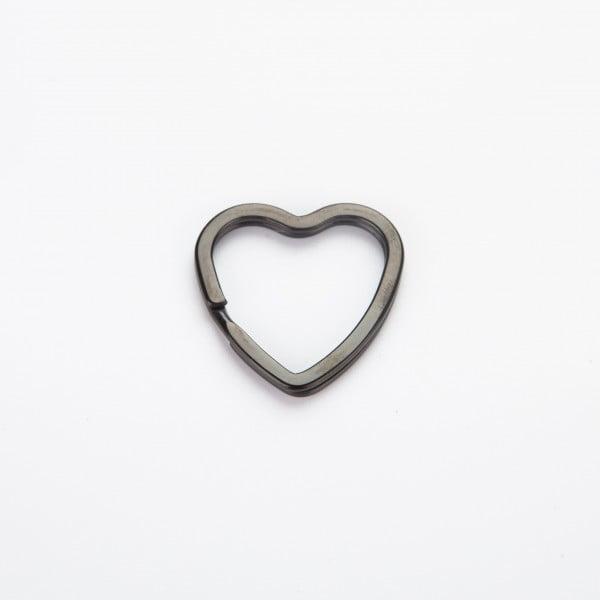 Nøkkelring - Hjerte, sort