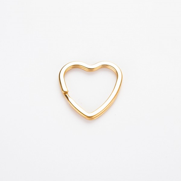 Nøkkelring - Hjerte, gull