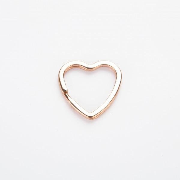 Nøkkelring - Hjerte, rose