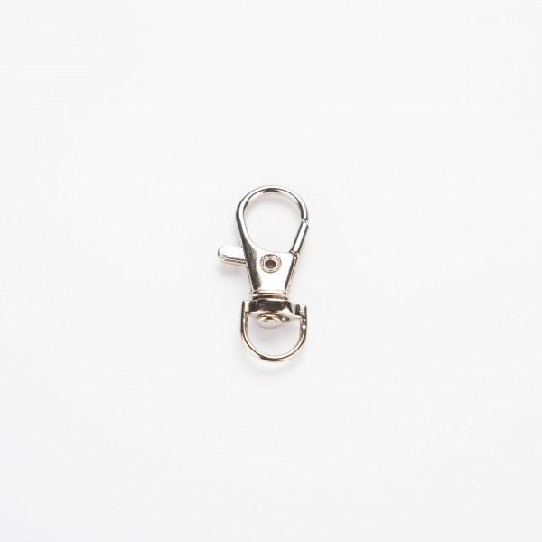 Nøkkelring - Med hake 35mm, sølv