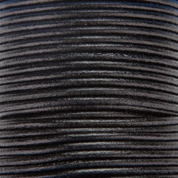 Skinn snor 2mm – 1meter, Sort