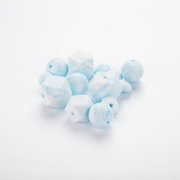 Silikon marble – Blå