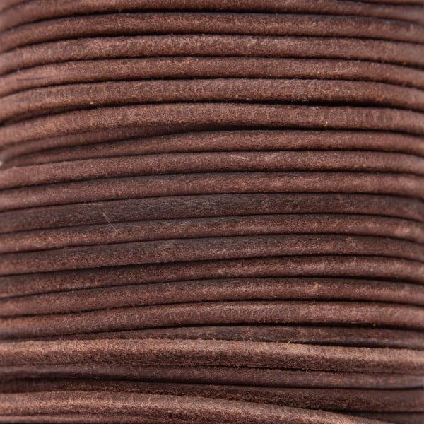 Skinn snor 3mm – 1meter, Mørk brun