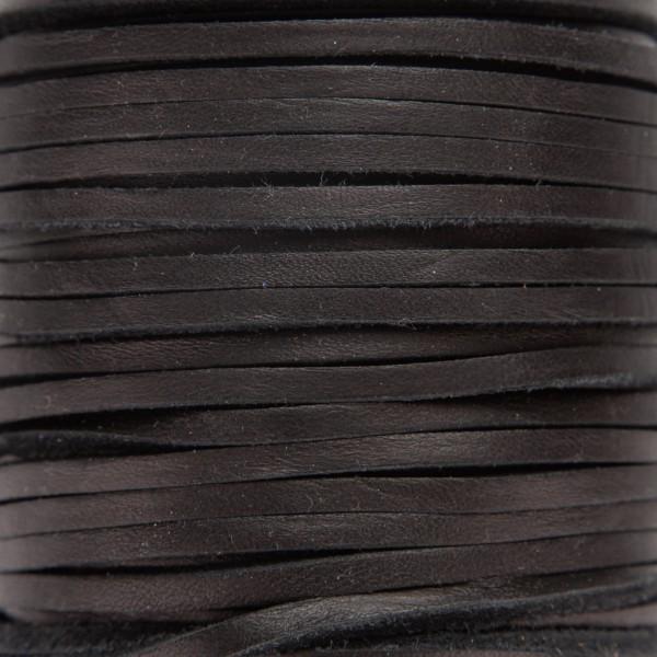 Skinn snor 3,5mm – 1meter, Sort