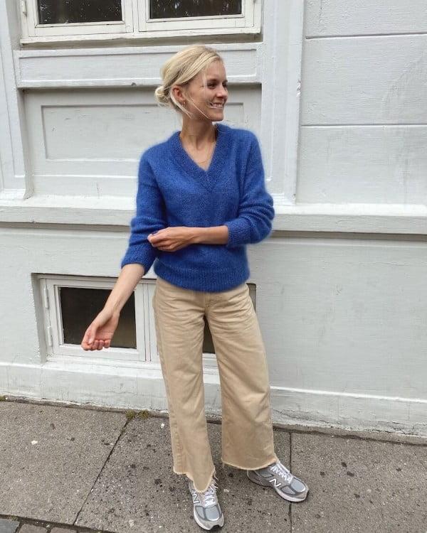 Stockholm sweater v-neck - papirutgave