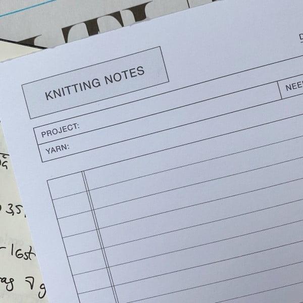 Knitting Notes - blok